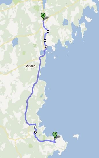 Dag tres etapp, mellan vandrarhemmen i Lärbro och Katthammarsvik