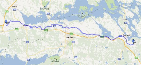 Dag 2, från Strängnäs via småvägar till Sörby Herrgård utanför Arboga