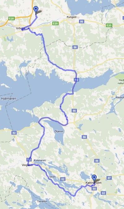 Tredje cykeldagen, vi unnade oss lite omvägar mot Katrineholm.