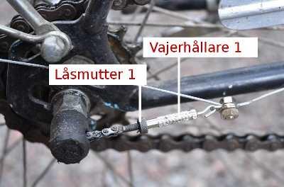 lossa bakhjul cykel