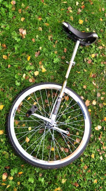 Den nya enhjulingen som passade mig lite bättre.