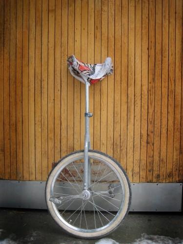 Den gamla enhjulingen som jag lärde mig på.