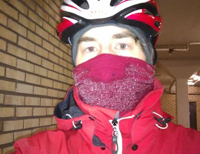 Framme i jobbgaraget efter en kall morgon
